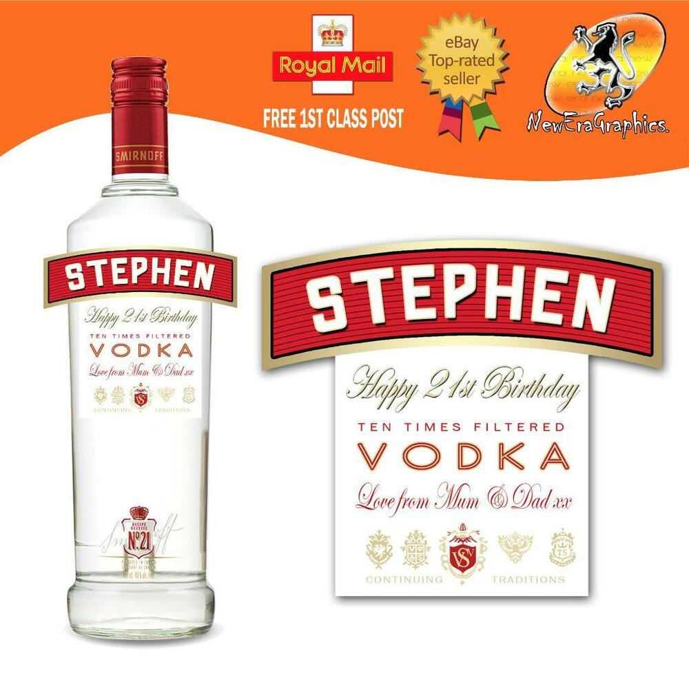 PERSONALISED VODKA BOTTLE LABEL BIRTHDAY ANY OCCASION GIFT ...