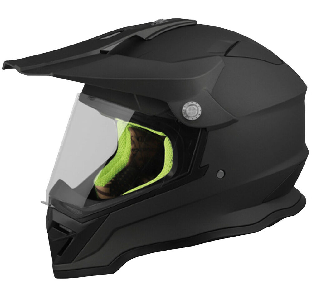 crosshelm matt schwarz motocross quad atv enduro helm. Black Bedroom Furniture Sets. Home Design Ideas