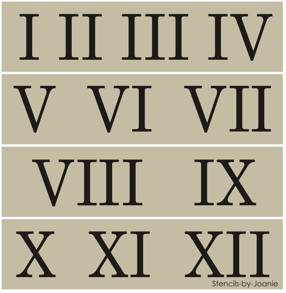 Roman Numeral Stencil 2 Quot Number Clock Shabby Cottage