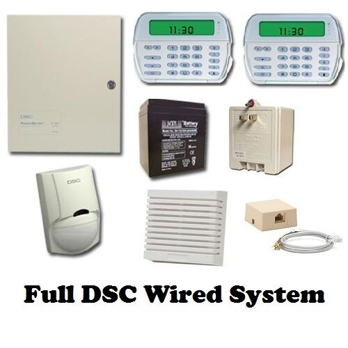 full dsc hard wired security system pk5501 keypad rfk5501 kp pc 1616 pane. Black Bedroom Furniture Sets. Home Design Ideas