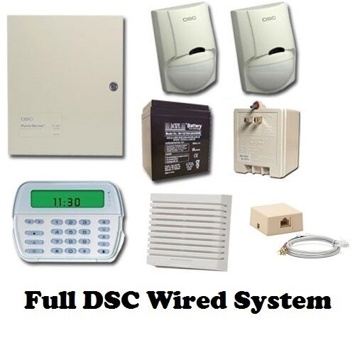 Full Dsc Hard Wired Security System Pk5501 Keypad Pc