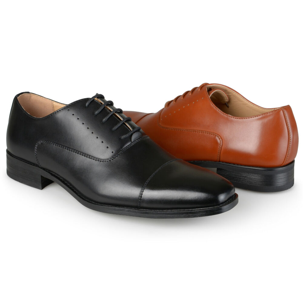 daxx mens cap toe lace up faux leather dress shoes ebay
