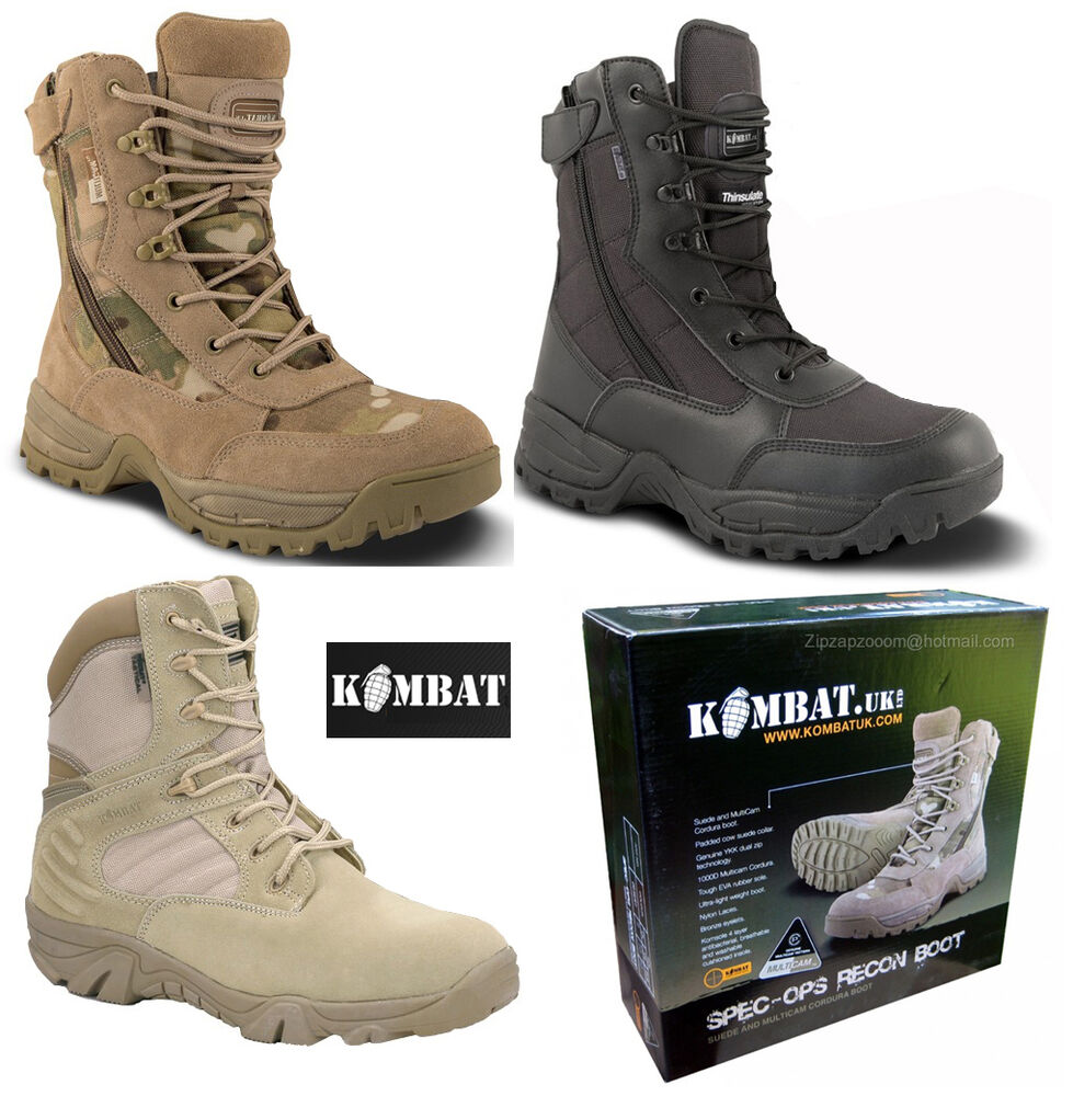 Mens Army Combat Military Patrol Boots Special Forces