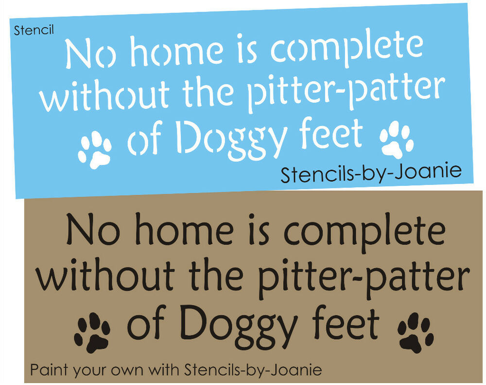Pet Stencil Home Complete Paw Print Pitter Patter Dog Feet