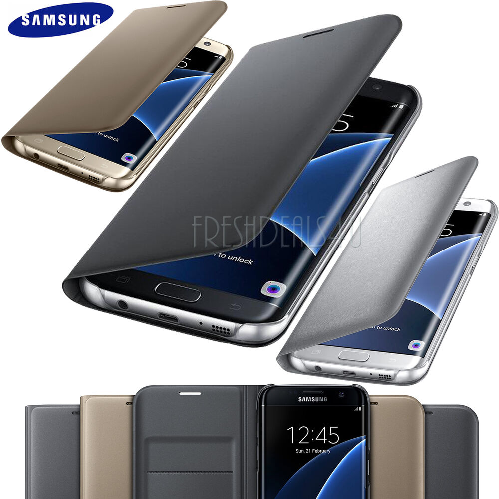 new samsung galaxy s8 s7 edge phone leather wallet flip case cover with screen ebay. Black Bedroom Furniture Sets. Home Design Ideas