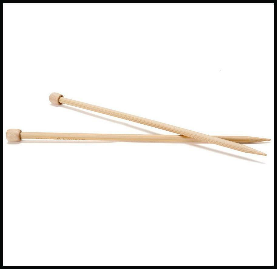 Extra Long Knitting Needles Uk : Pair of bamboo wood knitting needles choice mm