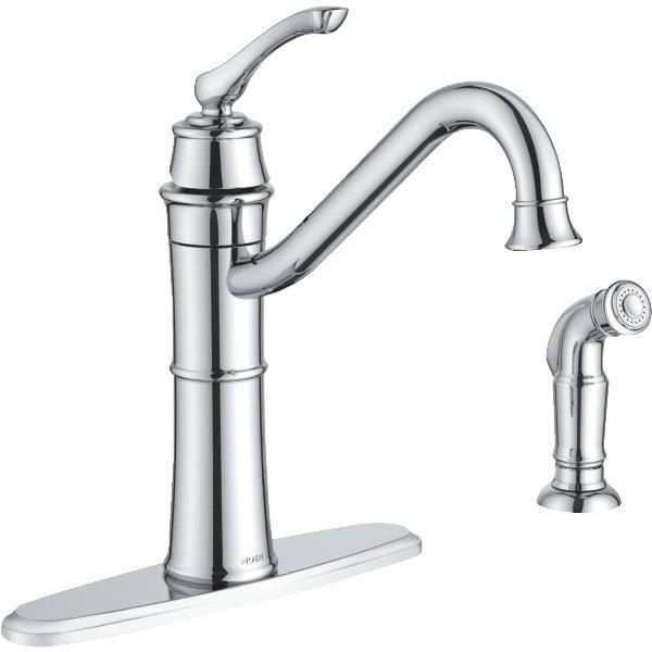 moen single handle kitchen faucets moen wetherly single handle ada kitchen faucet with side 25254