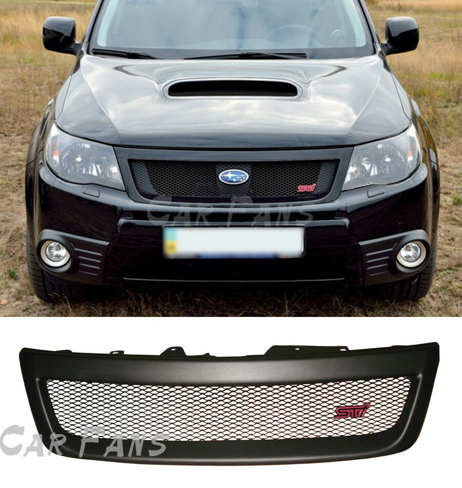 Sport Mesh Front Grille Sti Grill Abs Plastic For Subaru