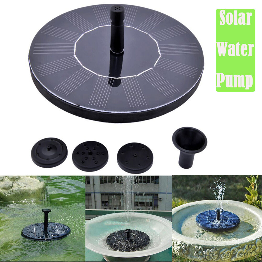 Solar Power Fountain Water Pump Floating Panel Pool Garden