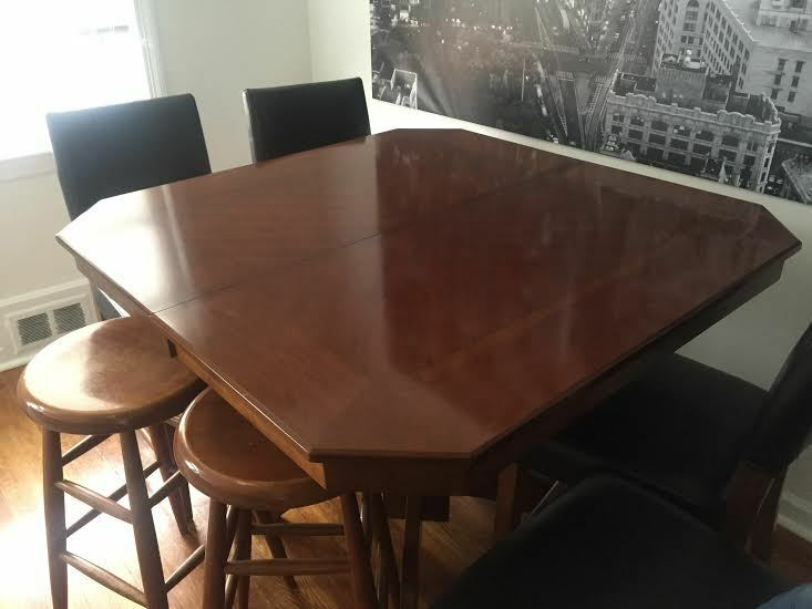 Beautiful Expandable Mahogany Wood Dining Room Table Ebay