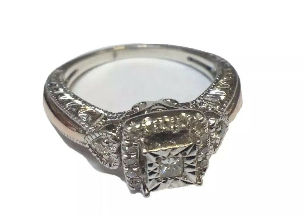 ladies kay jewelers princess cut 10ct diamond ring