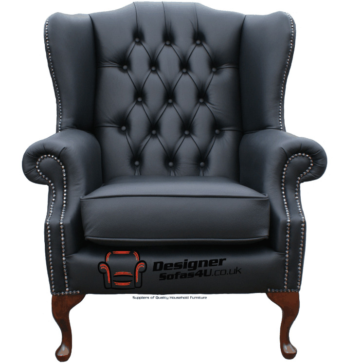 Chesterfield Mallory Armchair Flat Wing High Back Chair ...