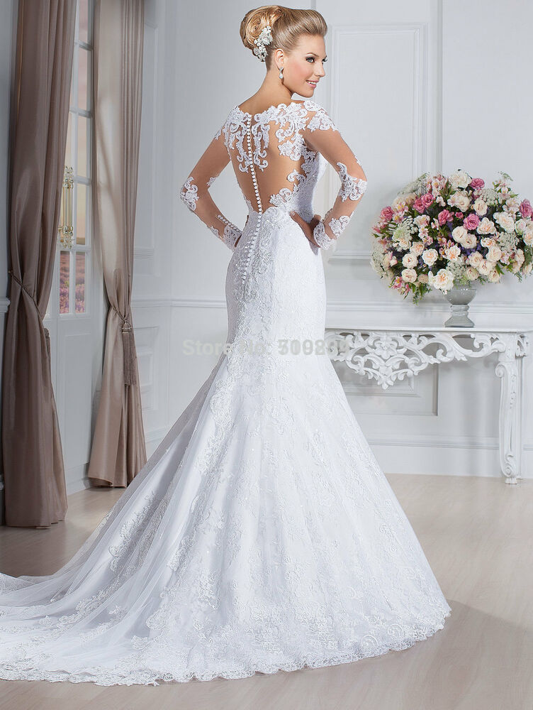 ivory wedding dress bridal gown custom size 6 8 10 12 14 16 18 ebay