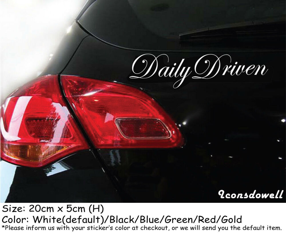 Details about daily driven car stickers truck boat stickers decals best gifts presents