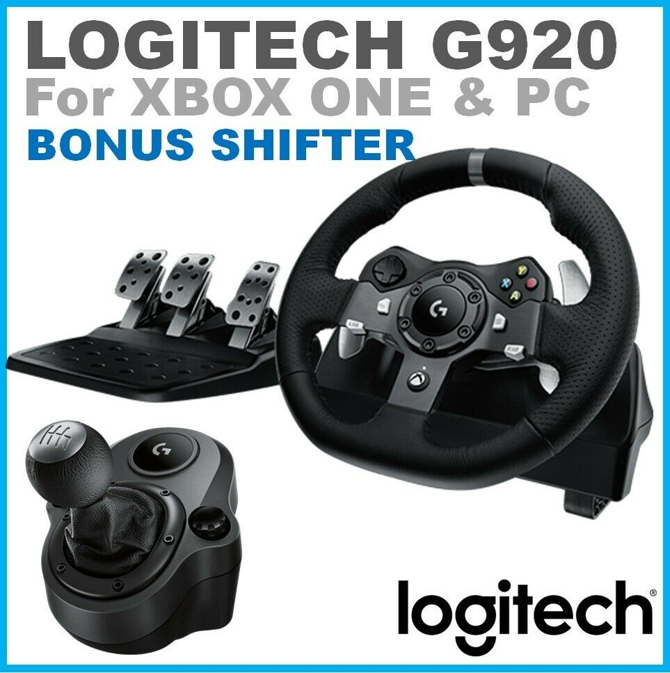 racing wheel pedals shifter logitech g920 driving force. Black Bedroom Furniture Sets. Home Design Ideas
