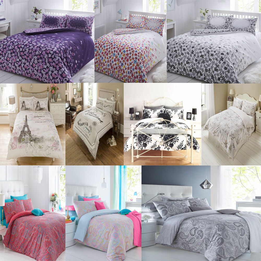 Modern Duvet Quilt Cover Bedding Set Pillow Cases Single