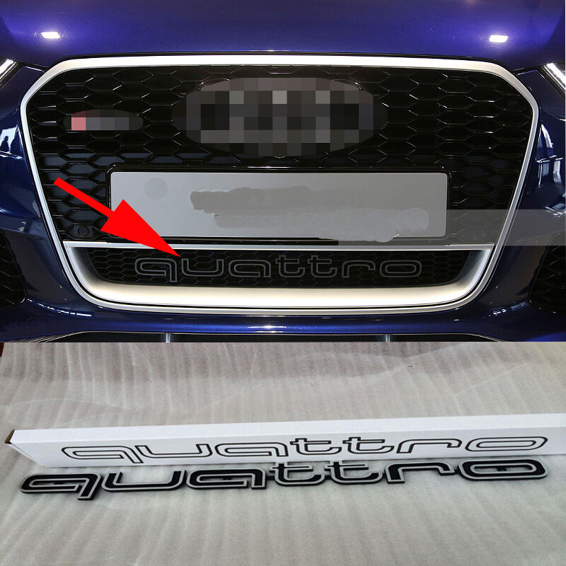 RS Style Quattro Badge Logo Grille Emblem For Audi A1 A3