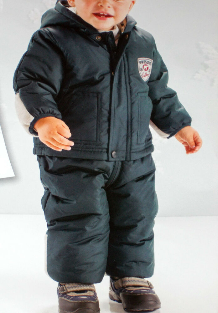 jungen baby winteroverall baby schneeanzug overall ebay. Black Bedroom Furniture Sets. Home Design Ideas