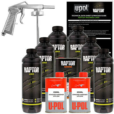U-POL Raptor Tintable Spray-On Truck Bed Liner Spray Gun, 6 Liters