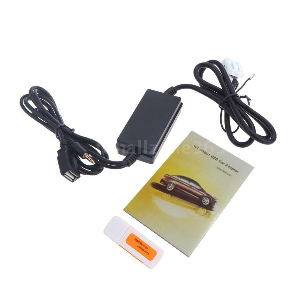 car usb aux in adapter mp3 player radio interface for audi a3 a4 2008 2010 q2v3 ebay. Black Bedroom Furniture Sets. Home Design Ideas