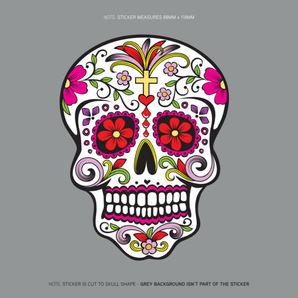 Day Of The Dead - Calavera - Sugar Skull - Flower - Decal/Sticker - SKU1122
