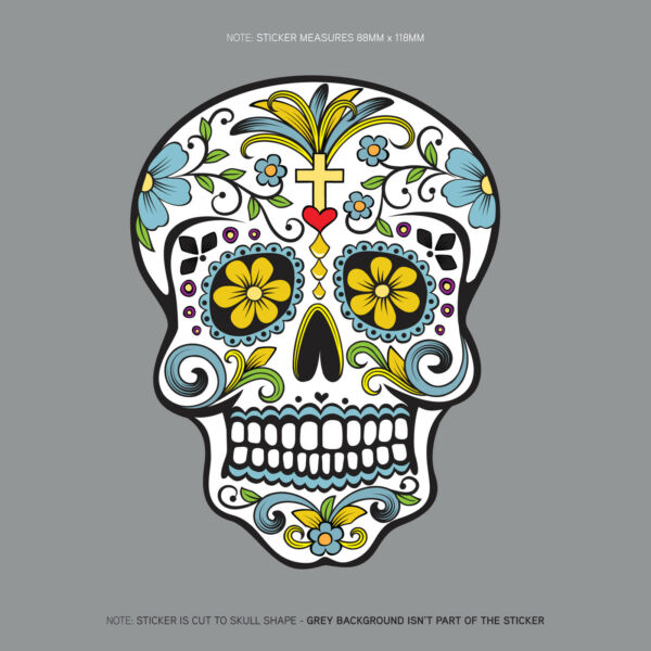 Day Of The Dead - Calavera - Sugar Skull - Flower - Decal/Sticker - SKU1124