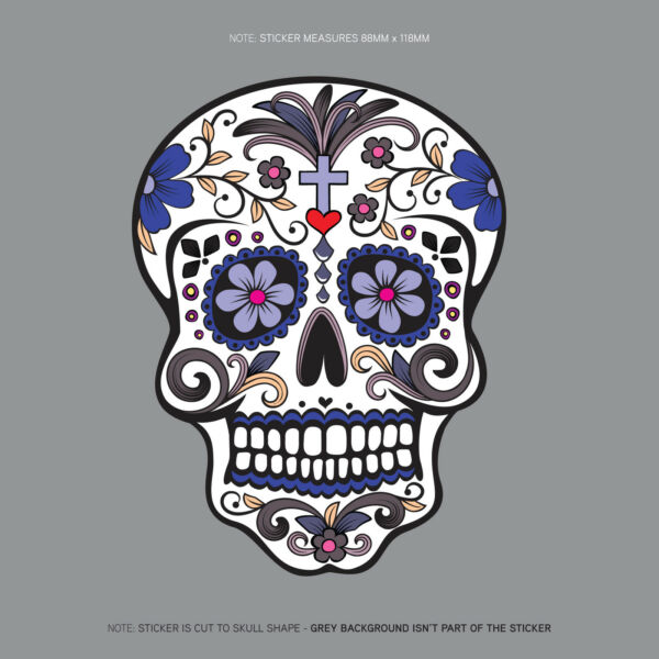 Day Of The Dead - Calavera - Sugar Skull - Flower - Decal/Sticker - SKU1130