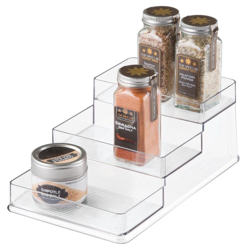 InterDesign Linus Stadium Clear Spice Rack Organizer