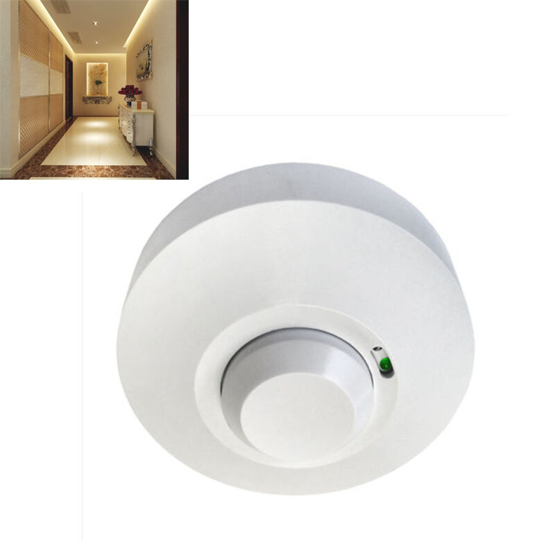 Ceiling Light With Built In Motion Sensor : New ceiling microwave pir occupancy presence motion sensor