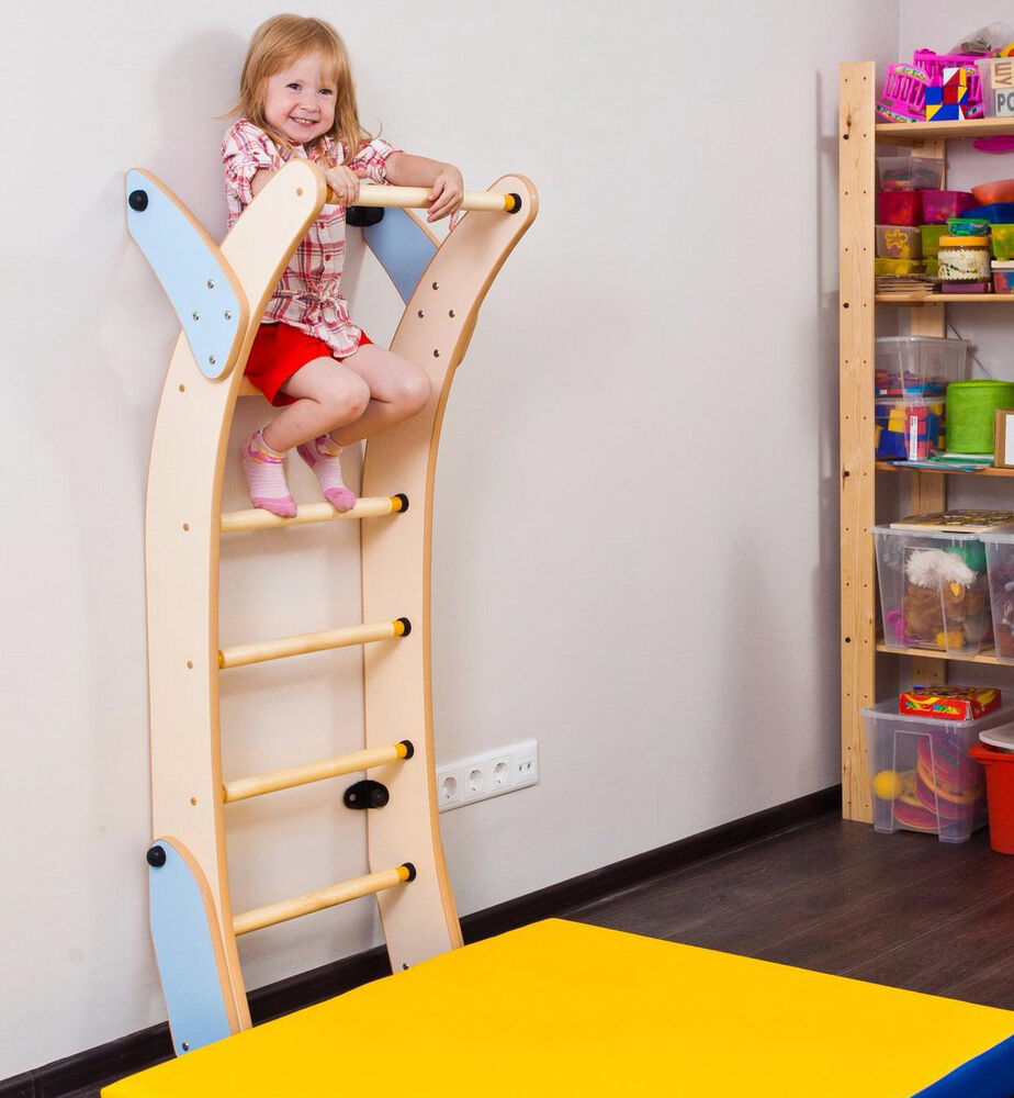 kids playground ladder set indoor climbing sport wall gym eco frindly playset ebay. Black Bedroom Furniture Sets. Home Design Ideas