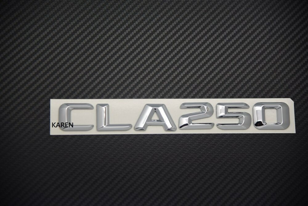 Mercedes benz cla250 chrome trunk logo letters badge for Mercedes benz support number