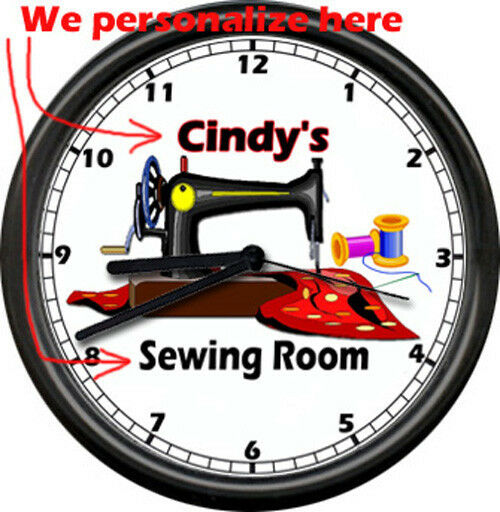 Sewing Room Wall Clocks
