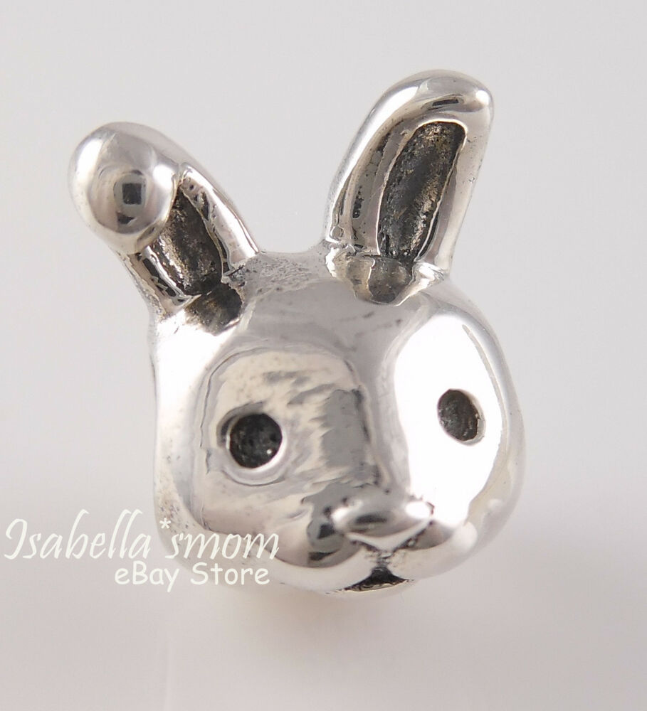 Remarkable Rabbit Authentic Pandora Silver Easter Bunny