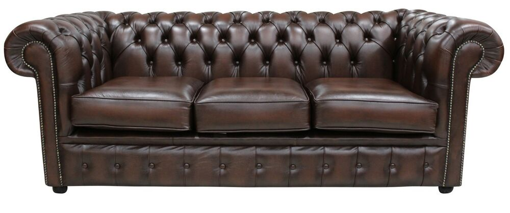 Brand New Chesterfield 3 Seater Sofa Settee Couch Antique
