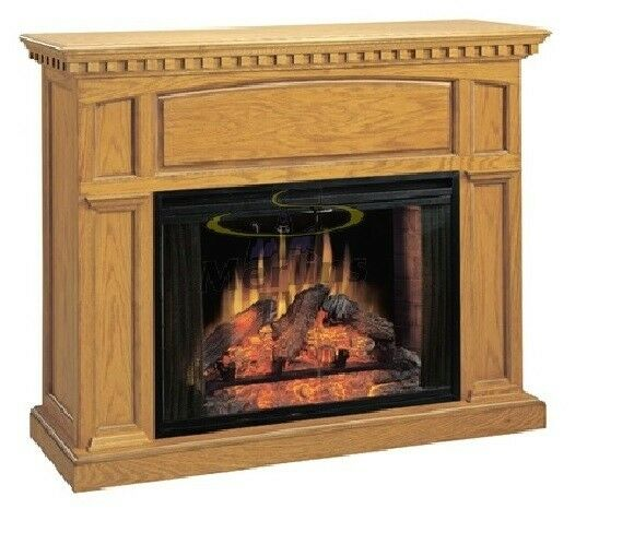 "Fireplace Cabinets: Classic Flames 33"" Electric Fireplace With Georgetown Oak"