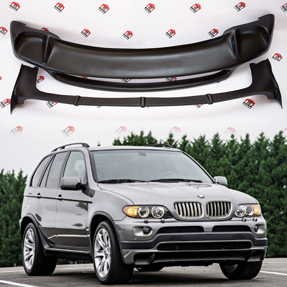 Bmw X5: BMW X5 E53 4.8is Style BODYKIT Front Spoiler And Rear