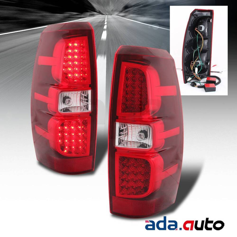 2007 2013 Chevy Avalanche Scarlet Red Led Tail Lights