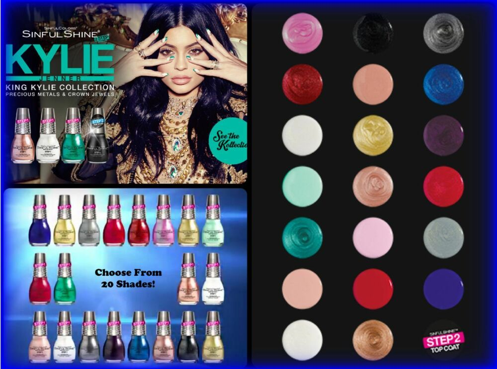 KING KYLIE JENNER Collection NAIL POLISH SINFUL COLORS Shine 2 Step ...