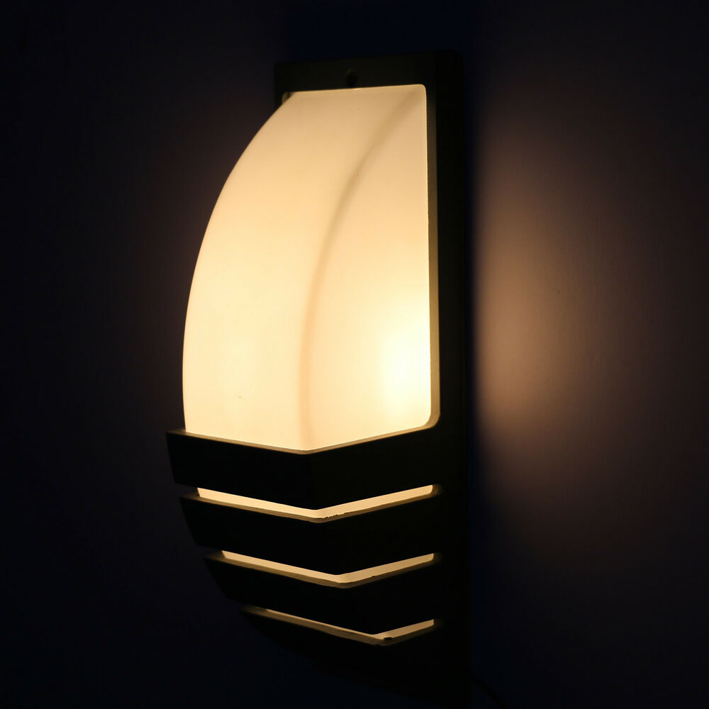 Wall Sconces For Basement : 7W LED Outdoor Exterior Wall Sconces Light Fixture Garden Basement Balcony Lamp eBay