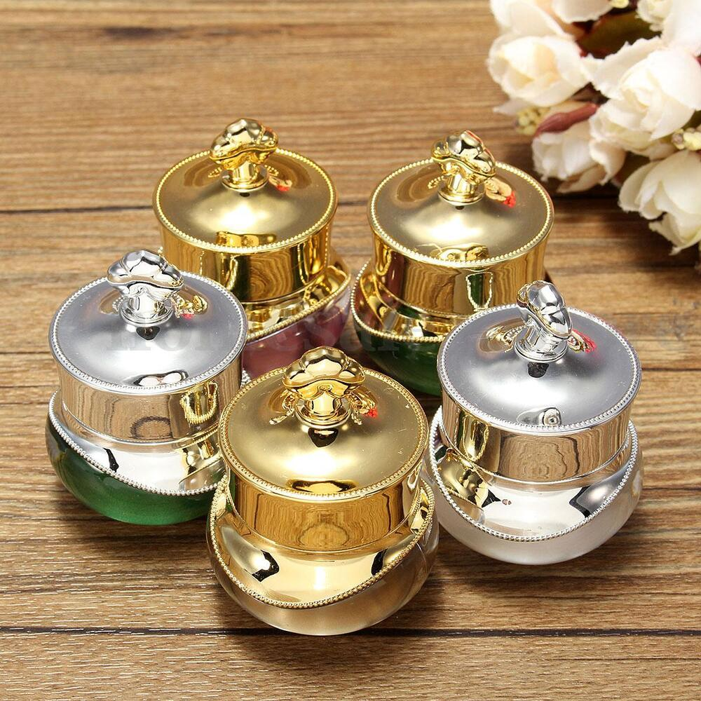 5/10g Crown EMPTY POT BOTTLE Sample for NAIL ART Makeup Cosmetic Cream Container