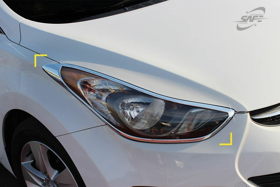 Gen Head Light Cover Chrome Molding Trim K957 for Hyundai ...