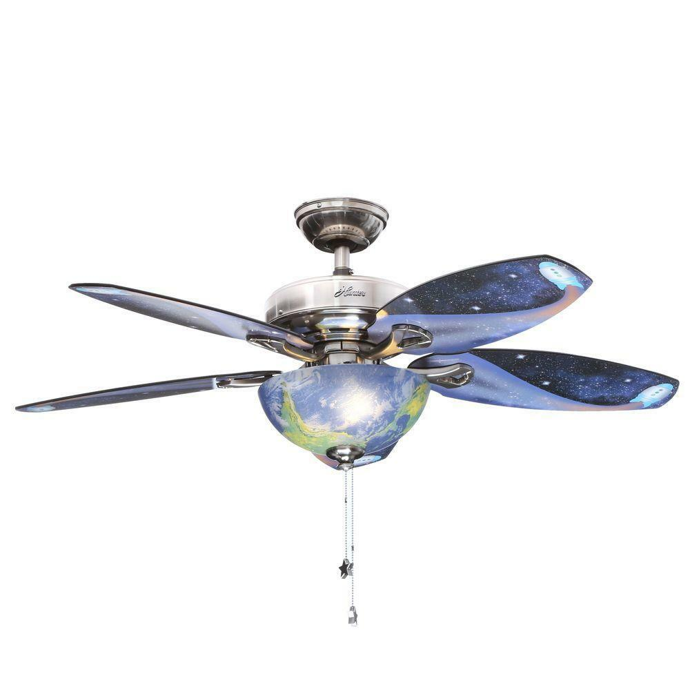 48 In Kids Room Brushed Nickel Ceiling Fan Reversible