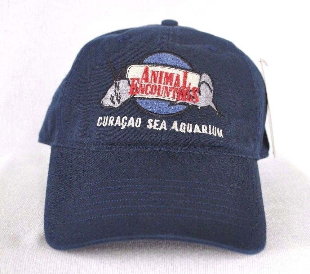 Details about  ANIMAL ENCOUNTERS CURACAO SEA AQUARIUM  Manta Ray Shark Ball  cap hat  OURAY  2c2d601de08