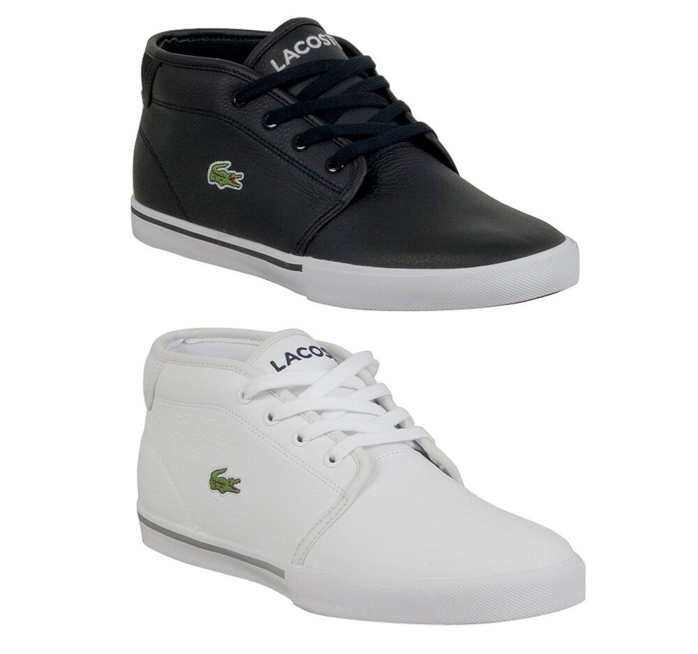 5bc8c95da Details about New Lacoste Ampthill LCR Men s Leather Lace up casual Fashion  Shoes Sneakers