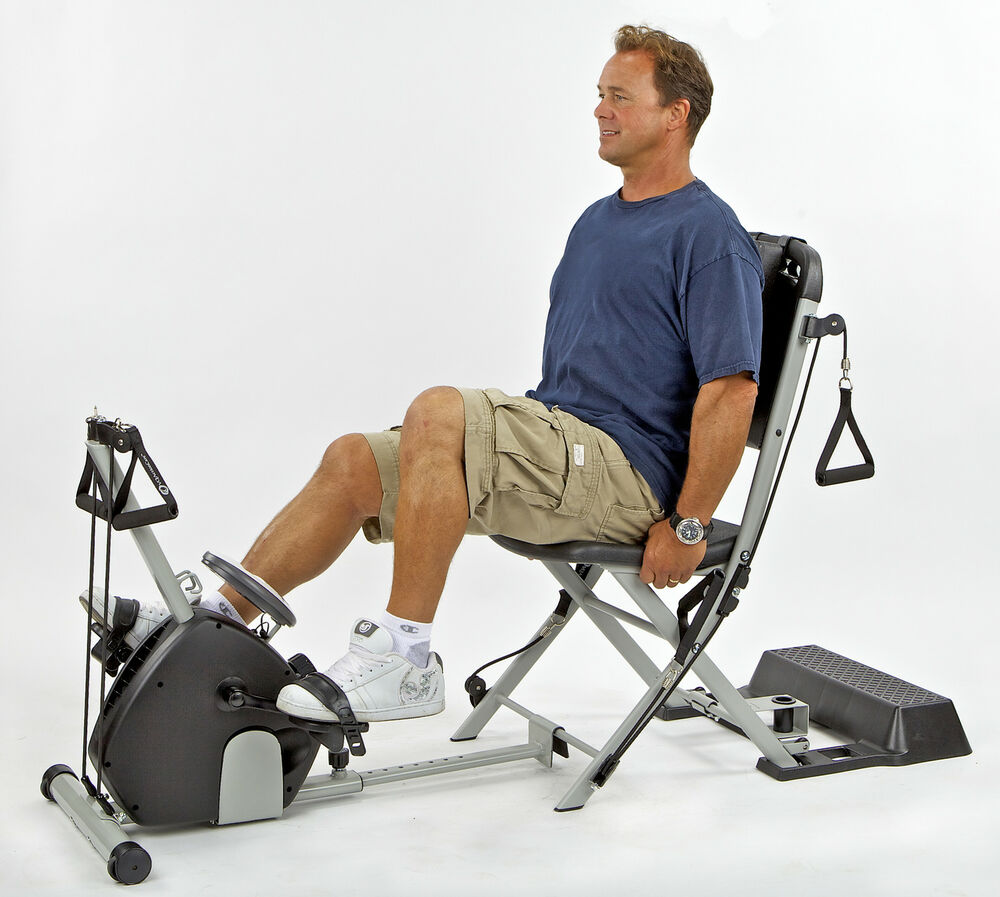 Vq actioncare resistance chair exercise w smoothrider ii for Chair exercises