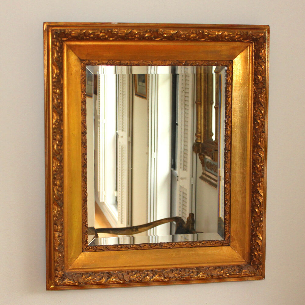 Vintage Beveled Mirror With Ornate Gilt Wood Frame Ebay