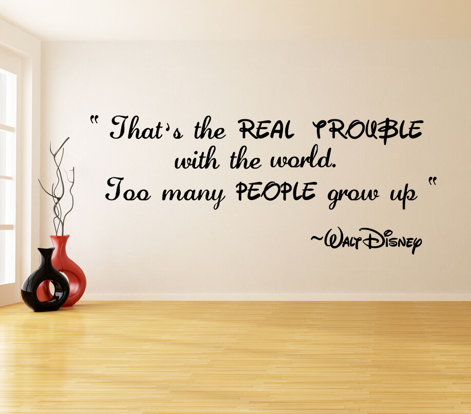 Vinyl Wall Decal Quote Real Trouble Walt Disney Saying