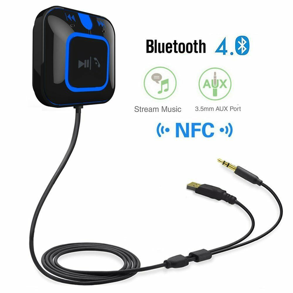 3.5mm NFC Wireless USB Bluetooth Stereo AUX Audio Music Speaker Receiver Adapter