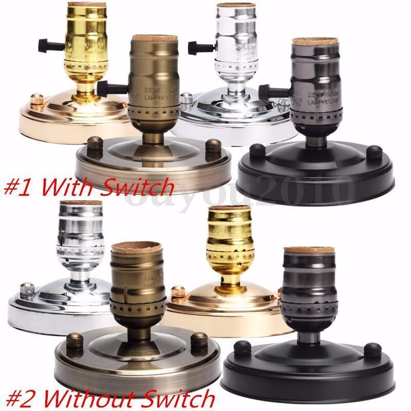 Wall Sconce With Socket Switch : E27/E26 Edison Retro Vintage Ceiling Light Wall Lamp Bulb Holder Socket Switch eBay