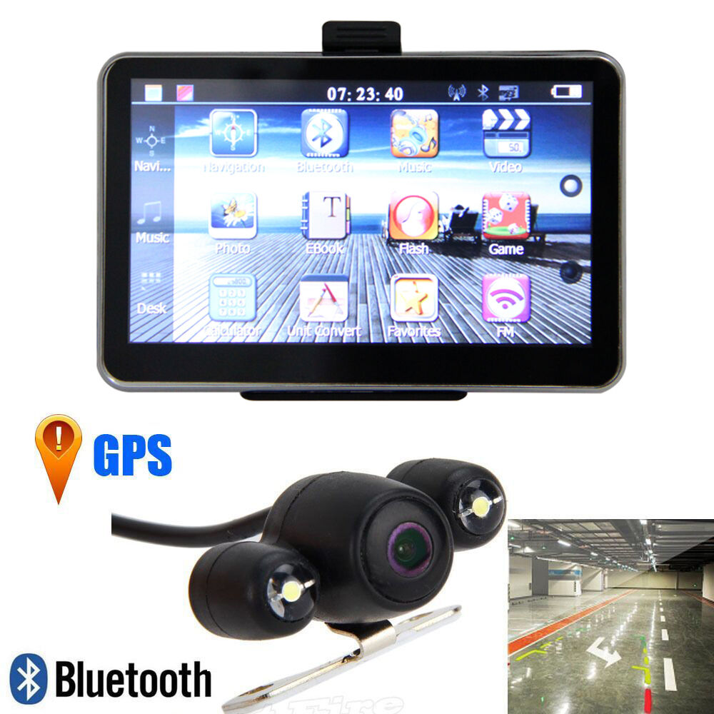 5 inch 4gb tf lcd car gps av in bluetooth navigation. Black Bedroom Furniture Sets. Home Design Ideas